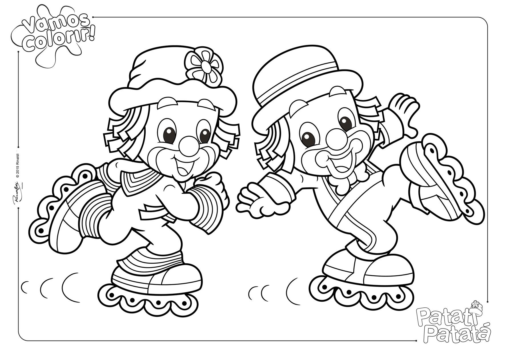 site oficial patati patat225 atividades de colorir